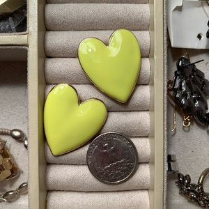Baublebar Nellia Heart Stud Earrings Chartreuse
